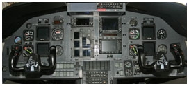 Here is the panel of our private passenger flight PC-12